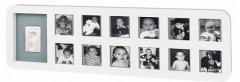 Набор для создания отпечатка ручки и ножки малыша Baby Art Рамка 1-й год Белая (34120085)