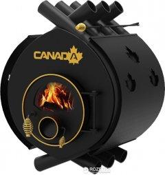 Печь калориферная для дома и дачи Canada ОО Classic со стеклом + перфорация (СK-002005SP)