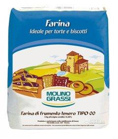 Мука из мягких сортов пшеницы Molino Grassi Torte e Biscotti Tipo 00 1 кг (8013971006324)