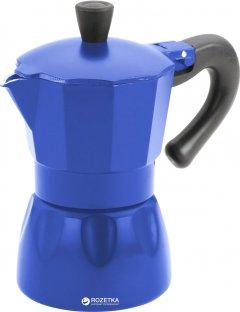 Гейзерная кофеварка эспрессо Calve 120 мл Синяя (СL-1520-С)