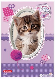 Альбом для рисования Herlitz Pretty Pets Cat A4 75 листов (10089019C)