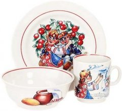 Набор детской посуды Гуси-лебеди из 3 предметов (25155)