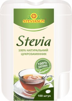 Заменитель сахара Стевиясан в таблетках 100 шт (4820035540052)