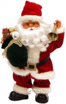 Дед Мороз интерактивный с подарком и звоночком mag-2000 36 см Красный (230013)