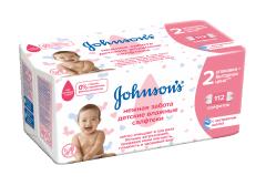 Влажные салфетки Johnson's Нежная забота 112 шт (3574661265544)