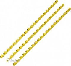 Пластиковые пружины bindMARK 8 мм 100 шт Желтые (20000432060)