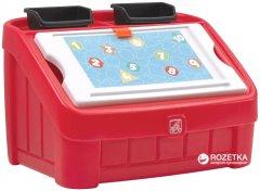Комод для игрушек и поверхность для творчества 2 в 1 Step 2 Box and Art Красный (733538848997)