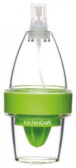 Ручной пресс-распылитель для цитрусовых Kitchen Craft 150 мл Прозрачный с зеленым (635846)