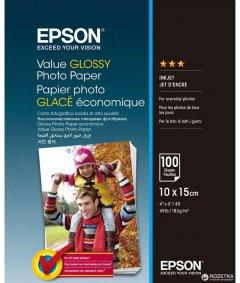 Фотобумага Epson Value Glossy Photo Paper 10х15 см 100 листов (C13S400039)