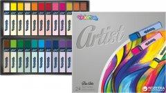 Пастель сухая Colorino Artist квадратная в пластиковом контейнере 24 цвета (65245PTR)