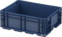 Ящик пластиковый для металлических деталей iPlast R-KLT 400х300х150 мм Темно синий (112.502.61)