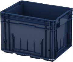 Ящик пластиковый для металлических деталей iPlast R-KLT 400х300х280 мм Темно синий (12.503.61)