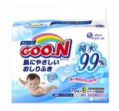 Салфетки влажные Goo.N для чувствительной кожи 3 x 70 шт (733777) (4902011731620)