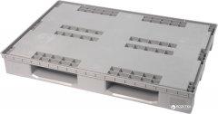 Поддон для полимерного разборного контейнера iPlast PolyBox 1200х800 мм Серый (02.106.91)