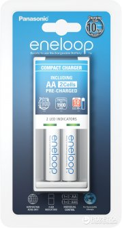 Зарядное устройство Panasonic Compact Charger + Eneloop 2AA 1900 mAh (K-KJ50MCC20E)