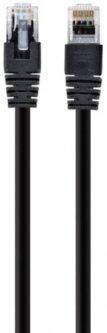 Патч корд Cablexpert CAT5e UTP 1 м Черный (PP12-1M/BK)