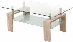 Стеклянный журнальный стол Vetro Mebel C-107-2 Белый дуб (C-107-2-whd)