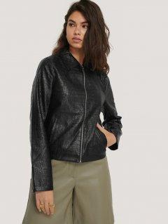 Куртка из искусственной кожи NA-KD 1018-004299-0002 36 Черная (88850000000110)