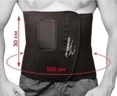 Пояс для похудения PowerPlay с карманом для смартфона 4301 100 х 30 см Черный (PP_4301_Black_100_Pocket)