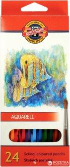 Карандаши цветные акварельные Koh-i-Noor Mondeluz Рыбки 24 цвета (3718_р)