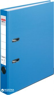 Папка-регистратор Herlitz maX.file Protect А4 50 мм Голубая (10200293)