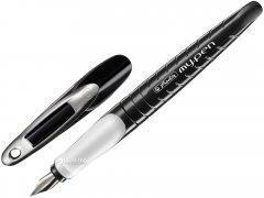Ручка перьевая для правши Herlitz My.Pen Black-White Синяя Черный корпус (10999746)