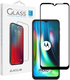 Защитное стекло ACCLAB Full Glue для Motorola Moto G9 Play Black (1283126509032)