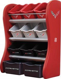 Органайзер с разноцветными ящиками Step 2 Corvette Room Organizer Красно-черный (733538824090)