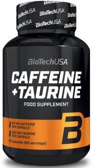 Предтренировочный комплекс Biotech Caffeine+Taurine 60 капсул (5999076234196)