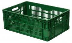 Ящик пластиковый перфорированный Полимерцентр 600х400х220 мм Зеленый (ST6422R-3-GR)