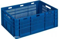Ящик пластиковый перфорированный Полимерцентр 600х400х260 мм Синий (ST6426R-3-DB)