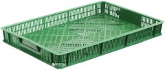 Ящик пластиковый перфорированный Полимерцентр 600х400х70 мм Зеленый (ST6407R-3.0.1-GR)