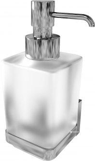 Дозатор для жидкого мыла AQUA RODOS Леонардо стекло 9933А хром