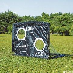 Складные футбольные ворота Net Playz Soccer Smart Playz ODS-2040 c мишенью 2 в 1 Черно-белые