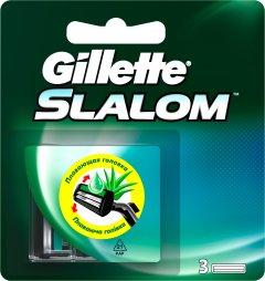 Сменные картриджи для бритья (лезвия) мужские Gillette Slalom с увлажняющей полоской 3 шт (7702018867851)