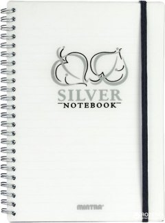 Блокнот Mintra Golden&Silver A5 в линейку 80 листов Серебро (92648S)