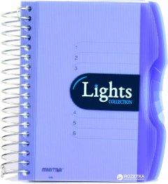Блокнот Mintra Lights A6 в линейку 150 листов Синий (982292)