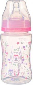 Бутылочка BabyOno Антиколиковая с широким горлышком 403 240 мл Розовая (149711)