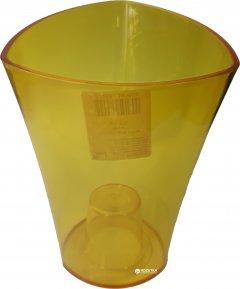 Вазон Lamela Венус треугольный 20 см Желто-прозрачный (375-25)