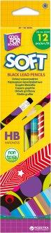 Набор карандашей графитовых 12 шт Cool For School Softy НВ (CF15140)