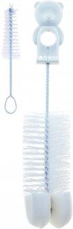 Ёршик с губкой для мытья бутылочек и сосок Canpol Babies (2/410 Мишка Белый)