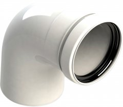 Колено раструб GROPPALLI для конденсационных котлов 90°, 80 мм (BB11371)