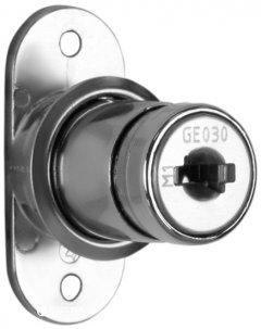 Замок нажимной Muller для раздвижных дверей ДСП CN 22 мм (99365)