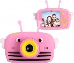Цифровой детский фотоаппарат XoKo KVR-100 Bee Dual Lens Розовый (KVR-100-PN) (9869201149908)