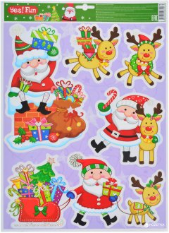 Наклейки новогодние Новогодько (YES! Fun) 801091 41 х 29 см (5056137106790)