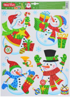 Наклейки новогодние Новогодько (YES! Fun) 801043 41 х 29 см (5056137106820)