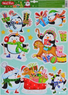 Наклейки новогодние Новогодько (YES! Fun) 801039 41 х 29 см (5056137106769)