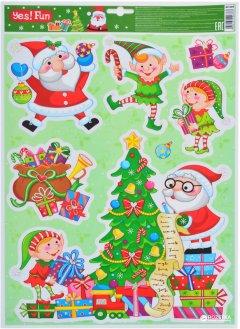 Наклейки новогодние Новогодько (YES! Fun) 801089 41 х 29 см (5056137106783)