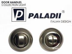 Накладка с поворотником Paladii WC дверная круглая сатен-хром (ПР122)