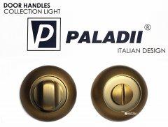 Накладка с поворотником Paladii WC дверная круглая кофе (ПР123)